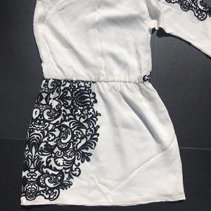 Tibi Dresses - NWT Tibi One Shoulder Sleeve White/Black Dress